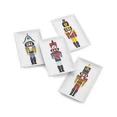 Nutcracker Appetizer Plates Set of 4