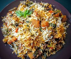 Veg Biryani is a delicious and aromatic preparation of Rice, Vegetables and spices cooked in a traditional Hyderabadi Dum Biryani style
