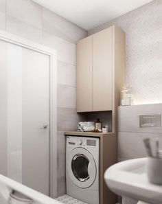 Bathroom Decorating – Home Decorating Ideas Kitchen and room Designs Laundry Room Bathroom, Laundry Room Design, Bathroom Toilets, Bathroom Design Small, Bathroom Layout, Bathroom Interior Design, Modern Bathroom, Apartment Interior Design, Bathroom Renovations