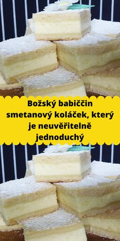 Czech Recipes, Dessert Recipes, Desserts, Cake Cookies, Vanilla Cake, Tiramisu, Camembert Cheese, Food And Drink, Sweets