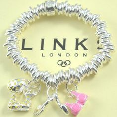 Links of London Sweetie Braclet with Three charms #jewelrydesign http://www.bestjewelry4you.com/product-category/earrings/