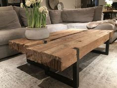 43 wooden tables bring the natural touch inside - wood .- 43 wooden tables bring the natural touch to the inside, - New Furniture, Wooden Furniture, Furniture Design, Outdoor Furniture, Furniture Ideas, Industrial Furniture, Discount Furniture, Luxury Furniture, 12 Seater Dining Table