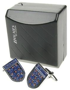 #Cufflinks england footballer #badge blue 3 #lions cuff links xmas gift bnib uk,  View more on the LINK: http://www.zeppy.io/product/gb/2/172125411952/