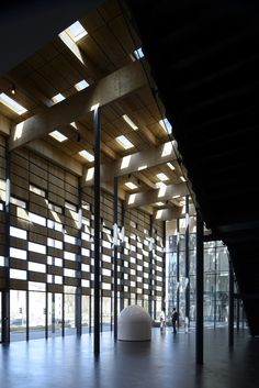 """Besançon Art Center and Cité de la Musique"" (2013) interior view of wall-window