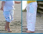 Beach Bum Bermuda Shorts: PDF Pattern & Tutorial in 11 Sizes. $7.95, via Etsy.