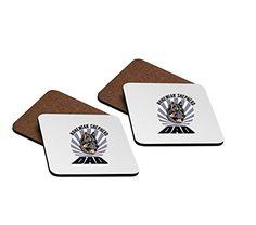 BOHEMIAN SHEPHERD DOG DAD 4x4 Hardboard Coasters Set of 4 *** Click for Special Deals #BohemianKitchen Bohemian Kitchen, Special Deals, Shepherd Dog, Coaster Set, 4x4