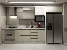 Condo Kitchen, Modern Kitchen Cabinets, Kitchen Sets, Modern Kitchen Design, Interior Design Living Room, Kitchen Decor, Kitchen Designs, Kitchen Models, Minimalist Kitchen