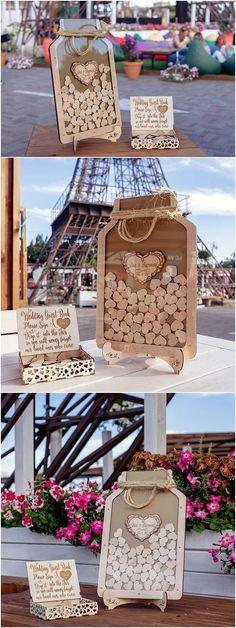 Mason Jar Drop Box guest book for wedding