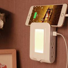 Amazon | ナイトライト 明暗センサー LEDライト コンセント ブラケットライト ベッドサイトライト 感光式夜間ライト 充電器 多機能 室内インテリア照明 壁掛け照明 子供部屋 ベッドサイト 室内 | Yosoo | ベッドサイドランプ