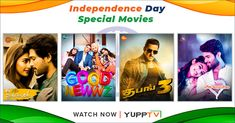 YuppTV Blog: YuppTV Powers the Weekend with Independence Day Sa... Independence Day Special, Indian Independence Day, Latest Movies, New Movies, Great Comedies, Blockbuster Film, Vijay Devarakonda, The Big Hit, Tv Channels