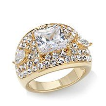 Real Collectibles by Adrienne® Square and Marquise Ring