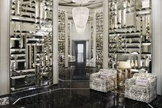 love this! The patterned 3D mirrors are too cool!!