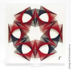 Amazing painting in the style of stringart by Tatiana Miklyaeva