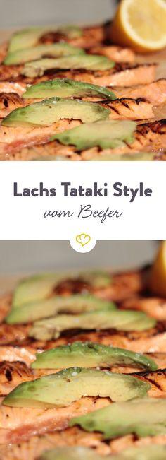 Tataki ist eine Zubereitungsmethode aus der japanischen Küche, bei der Fleisch oder Fisch sehr kurz bei starker Hitze angeröstet werden. Perfekt für den Beefer.