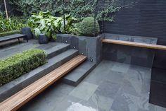 Step/ bench arrangement.