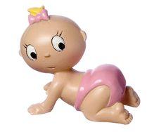 Nuestra bebé Colette es ideal para anunciar el nacimiento de tu niña. Es perfecta para añadir junto a una composición y servirá como regalo a los invitados del baby shower o bautizo.