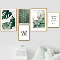 Leaf Wall Art, Leaf Art, Canvas Wall Art, Wall Art Prints, Wall Paintings, Gallery Wall Bedroom, Nordic Art, Plant Wall, Wall Art Quotes