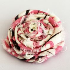 It's {always} All About Ribbon: Project: Rolled Fabric Roses Lickty QUICK