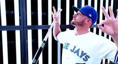 Blue Jays GIFs, art, and rambles. Yeah, I kinda like baseball. Sports Sites, Josh Donaldson, Toronto Blue Jays, Atlanta Braves, Baseball Players, Major League, Blue Bird, My Boys, Boyfriend
