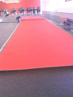 COLOR IT UP!!  Maxx Fitnesss Providence RI added red turf to their stretching and functional area. Members love the new addition and branding your club is important to your franchisees.
