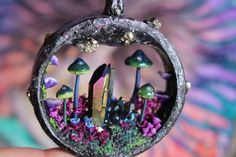 I Make One Of A Kind Magic Portal Necklaces  Using Natural Gemstones, Polymer Clay And Precious Metals