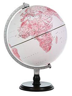 Kinderglobe PinkZoo globe 25 cm met dieren verlicht Nederlands ...