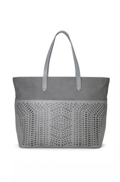 Large Vegan Leather Grey Tote Bag | Stella & Dot www.stelladot.com/maryprusak