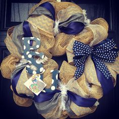 Penn State University Burlap Wreath