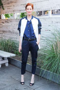 Fashion Move: The tucked-in look Style Insider: Taylor Tomasi Hill Why they don't get it: Like layering, the things we'll tuck are not limited by common convention: no matter if it's  a tee into a high-waisted skirt, a button-front blouse into jeans, or a classic oxford-and-trousers pairing. Plus, we've got a handful-and-a-half of tucking techniques to make it look stylish, not dorky.