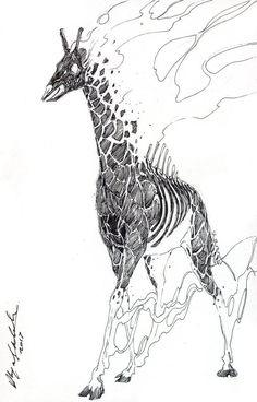 """the masculine cosmic apocalyptic monster. a premonition of war. The Burning Giraffe"" Weird Creatures, Fantasy Creatures, Salvador Dali Artwork, Manga Anime, Character Art, Character Design, Ghost Pokemon, Giraffe Art, Elephant"