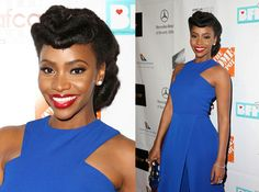 Teyonah Parris looked amazing last night on the Red Carpet of the 7th Annual AAFCA Awards in our Pebbles Earrings & Layered Diamond Ring!