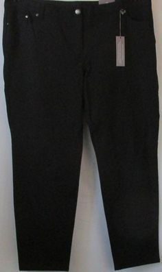 So Slimming by Chico's NWT Plus Size Black Slim Leg Jeggings Size 4 or 18/20 #Chicos #CasualPants