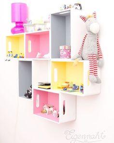 Inspiração fofa de como reciclar caixotes e usa-los na decoração do quarto das…