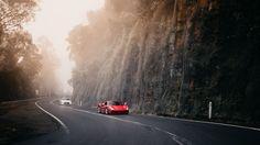 Ferrari 488 GTB and Nissan GTR at Macquarie Pass, NSW