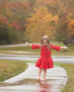 Dancing in the Rain  ~    www.StoryMoonPhotography.com    ~  #dance #rain #joy #StoryMoon
