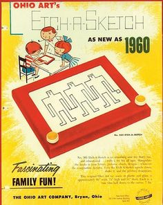 "The Ohio Art Company launched Etch-A-Sketch in 1960. It was invented in the late 1950s by André Cassagnes. He called it ""L'Ecran Magique"", the magic screen."