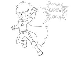 Superhero Coloring Pages School schedule Summer months and School