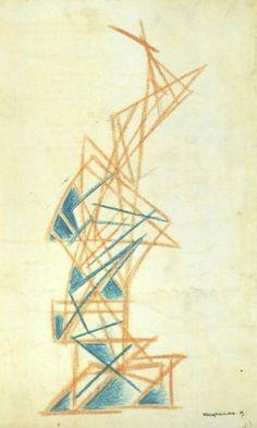 Alexander Rodchenko - Architectural composition, ca. 1920