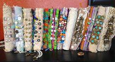 Embellished Spines of Handmade Journals
