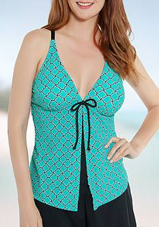 0a04122060 Bathing Suits & Swimsuits for Women. Beach Diva Oasis Tile Flyaway Tankini