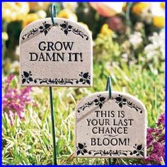 The perfect gift for the amateur gardener or someone who is just having a bad grow season! :)