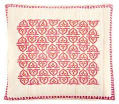 Pope 20x20 Embroidered Pillow, Pink