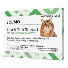 """Amazon has the Amazon Brand – Solimo Flea and Tick Topical Treatment for Cats (over 1.5 pounds), 3 Doses marked down from $10.84 to $5.99. That is 45% off retail price! TO GET THIS DEAL: GO HERE to go to the product page and click on """"Add to Cart"""" Final price = $5.99 Shipping is…"""