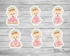 Aplique Princesa Ursinha 7 cm