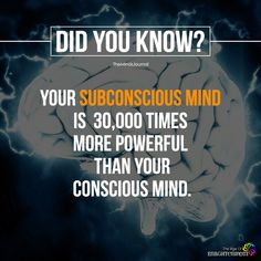 Amazing WTF Facts: Your subconscious mind is 30000 times more powerful than your conscious mind. True Interesting Facts, Interesting Facts About World, Intresting Facts, Psychology Fun Facts, Psychology Says, Psychology Quotes, Interesting Psychology Facts, Wierd Facts, Wow Facts
