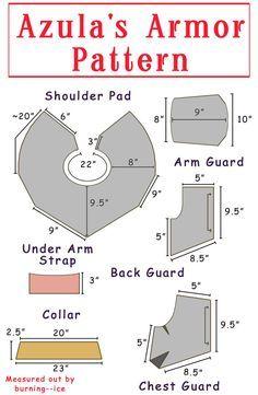 Azula's armor pattern