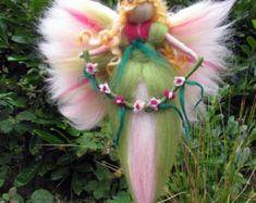 Needle Felted Wool fairy Flower fairy Waldorf by LivelySheep