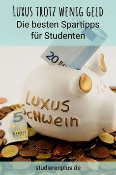 Die besten Spartipps für Studenten: Wie du weniger ausgibst, ohne zu verzichten! #spartipps #studium #ausgaben #sparen Piggy Bank, Projects, Uni, Live, To Study, Save My Money, Training, Finance