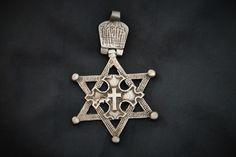 Davidstern Kreuz Äthiopien.  Ethiopia: Star of David. Ethiopie: étoile de David