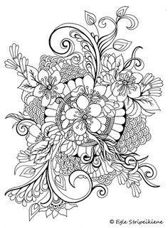Coloring book for adults COLORS OF CALM by Egle Stripeikiene. Publisher: www.almalittera.lt